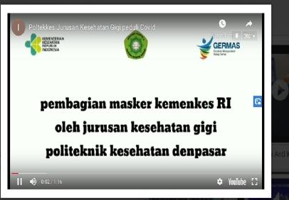 Jurusan Kesehatan Gigi Poltekkes Denpasar  Peduli Covid