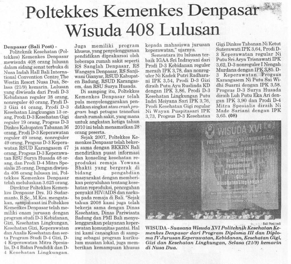 BaliPost,21-09-2010,Wisuda XVI