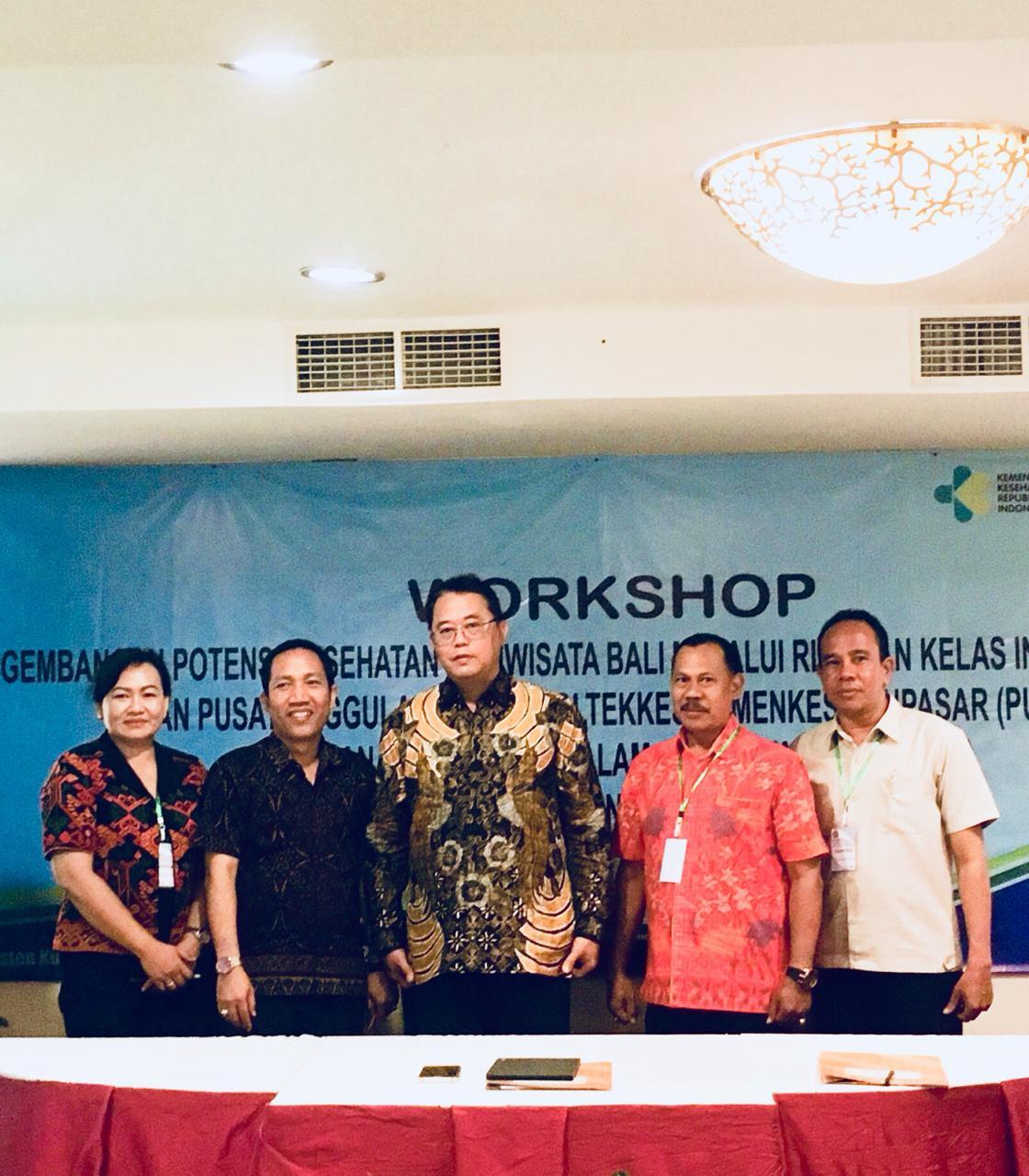 Workshop Pengembangan Potensi Kesehatan Pariwisata Melalui Rintisan Kelas Internasional (RKI) dan Pusat Unggulan Iptek Poltekkes Kemenkes (PUI-PK) Layanan Tradisional Dalam Kesehatan Pariwisata Poltekkes Kemenkes Denpasar