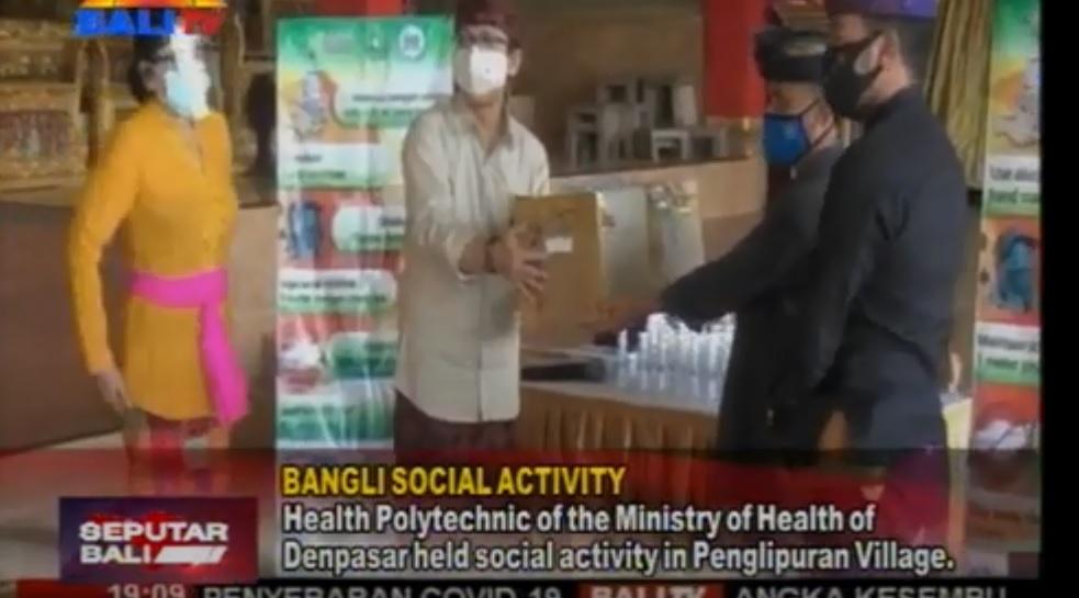 Pengabmas Pembagian Masker di Desa Penglipuran