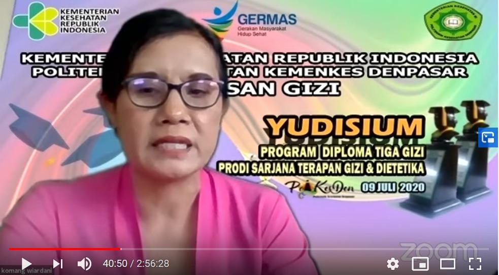 Yudisium Jurusan Gizi Poltekkes Denpasar Tahun 2020, 9 Juli 2020